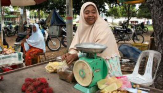 Malayer er hyggelige og imøtekommende. Her fra et lokalt marked. Foto: Stine Okkelmo