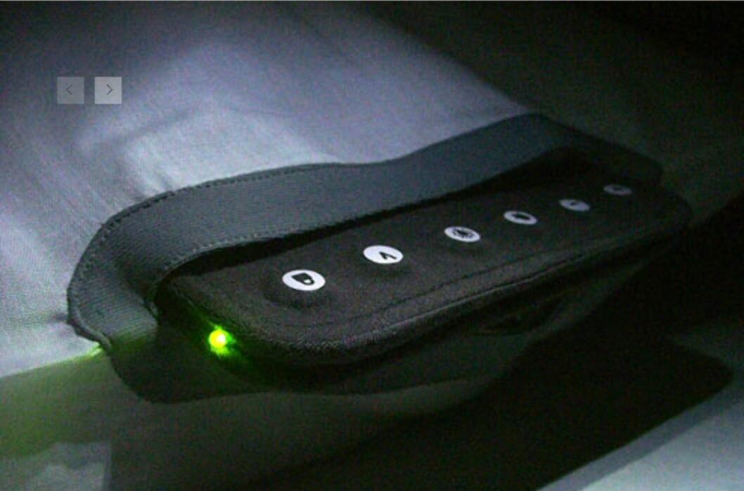 Du stiller inn puten ved hjelp av et intutivt kontrollpanel på siden. Foto: Embryo