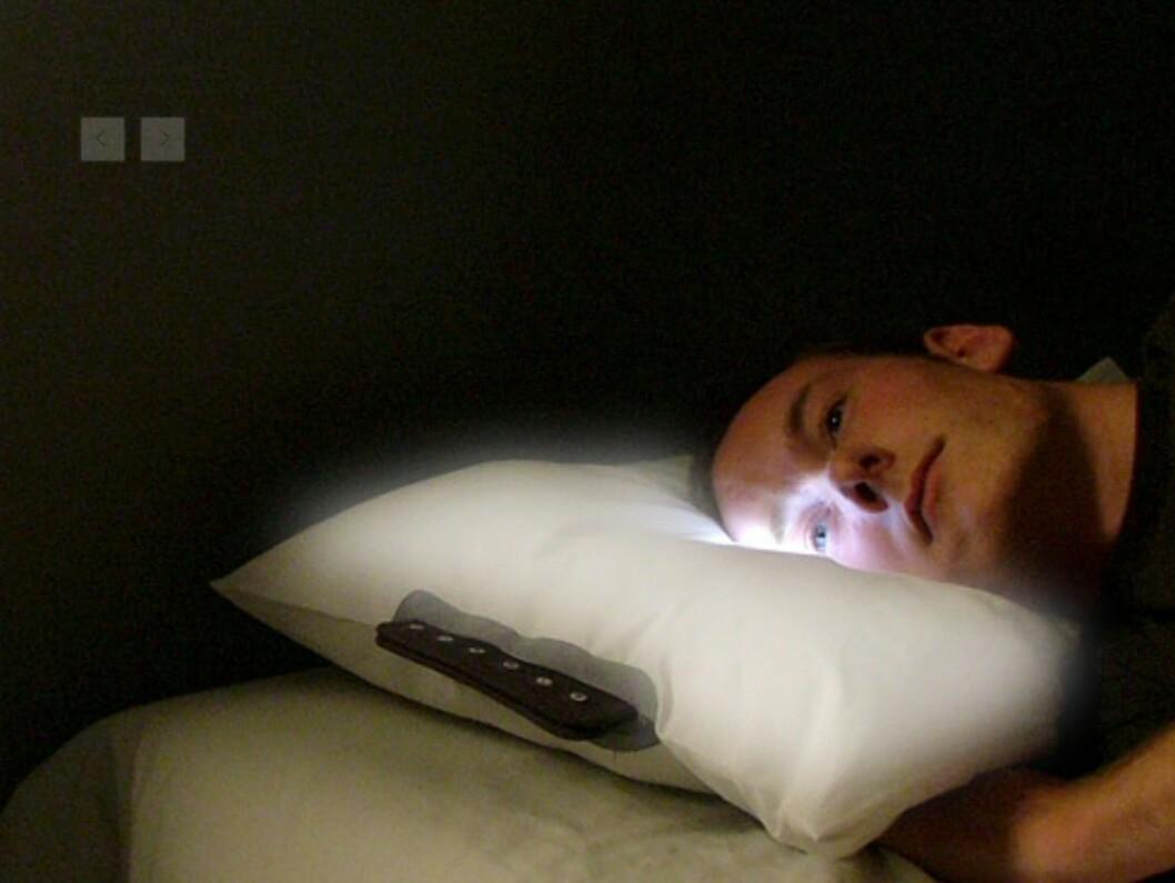 Lysdiodene skrur seg gradvis på og opp 40 minutter før du skal stå opp. Foto: Embryo
