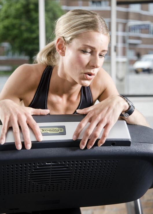 Enkelte kjører seg selv hardt fysisk for lettere å kunne mestre indre smerte.  Foto: colourbox.com