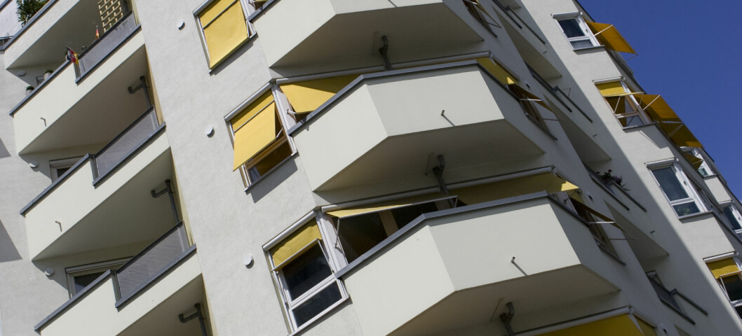 Prisen på boenheter i større bygg har falt det siste halve året, men er fortsatt drøye fem prosent høyere enn i fjor. Foto: Colourbox