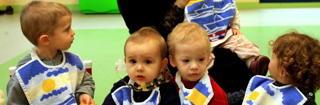 Barnehagebarn er mer syke enn de som er hjemme. Foto: Colourbox.com