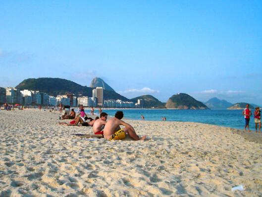 Copacabana skal være stedet for de vakre damene ... Foto: Genildo Marcelo