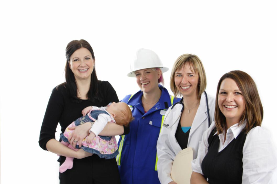 Kvinner jobber mindre etter de får barn. <i>Illustrasjonsfoto: iStockphoto.com</i>