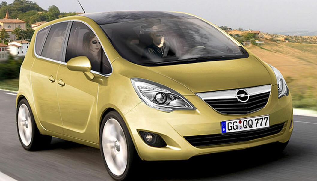 Store bilder av Opels kommende fleksibil