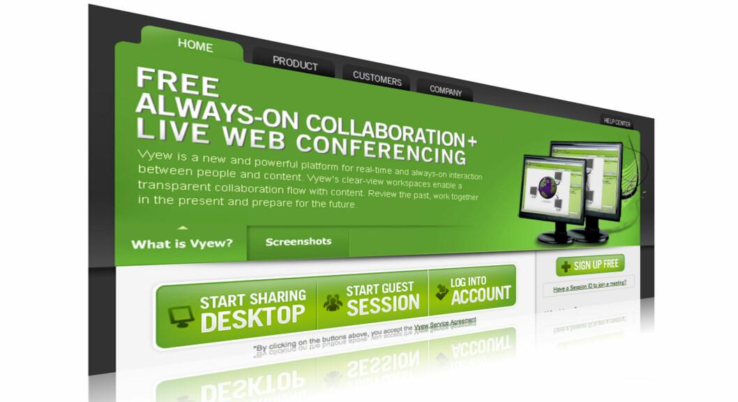 Vyew lar deg dele skrivebordet med andre - over nettet