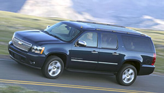<strong>Chevrolet Suburban:</strong> 1.500.000 kroner i Norge, 207.000 i USA...