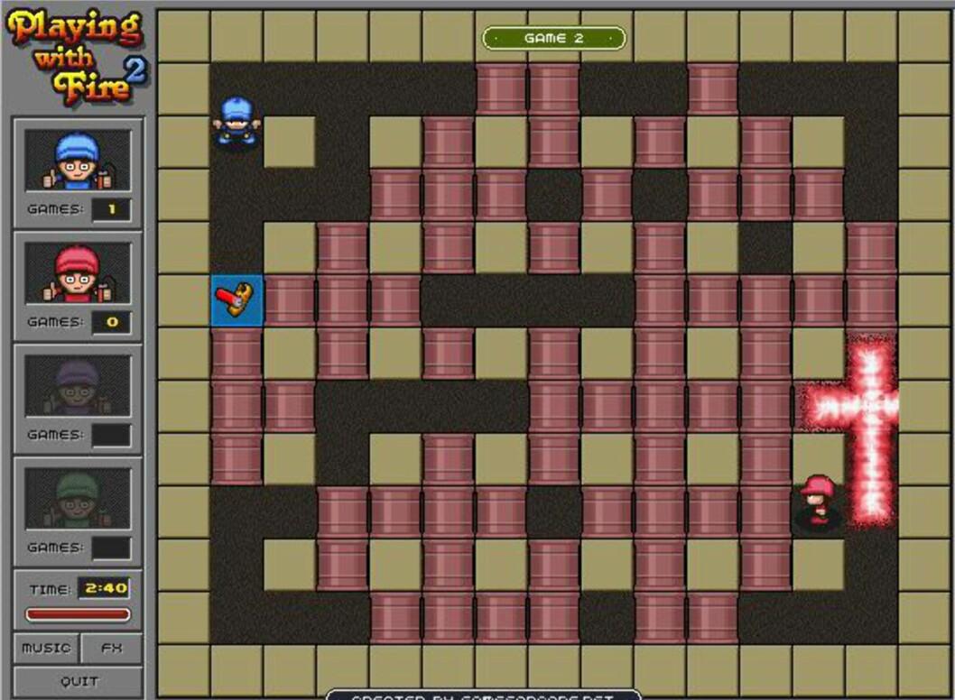 Ukens nettspill er en ren Bomberman-kopi. Foto: DinSide