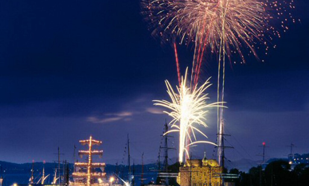 Fredag og lørdag fra 23.15 til 23.30 blir det fyrverkeri. Foto: Per Eide