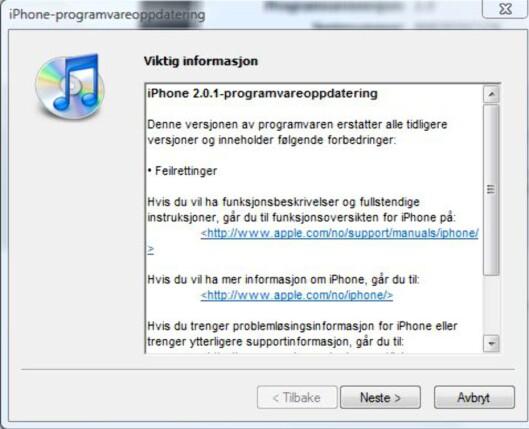 Mange har ventet på en oppdatering fra Apple. Foto: DinSide