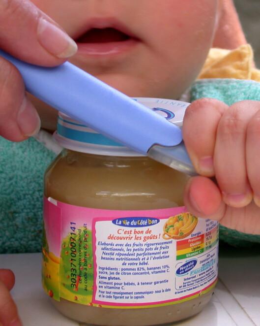 Ikke alle babyglass inneholder nok fett. Illustrasjonfoto: Colourbox.com