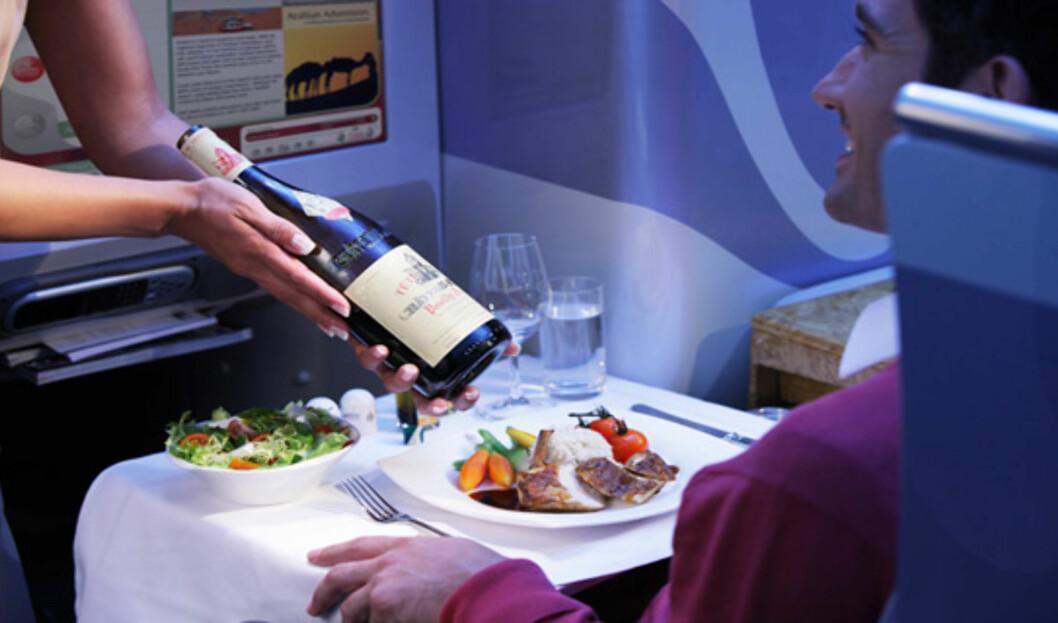 Magen lider ingen nød på businessklasse, heller. Foto: Emirates