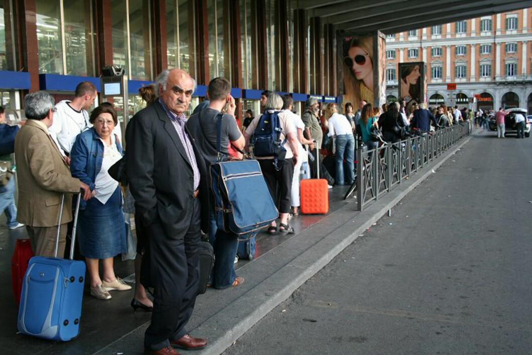 Å ha hastverk når du ankommer Roma er ikke noe sjakktrekk hvis du må ta taxi – i alle fall ikke en søndagskveld… Foto: Elin Fugelsnes