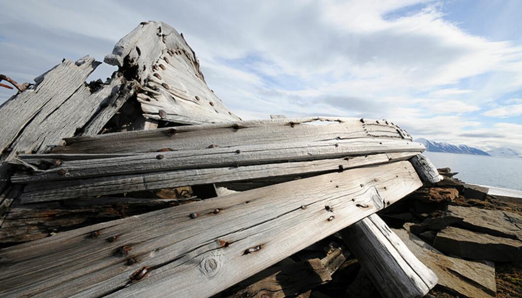 Mange steder underveis møtte vi på kulturminner fra de harde fangstdagene på Svalbard. Fangstperioden var på høyden fra slutten av 1800-tallet og frem til slutten av 30-åra. Det kalde og tørre miljøet gjør at minnene varer lenge.