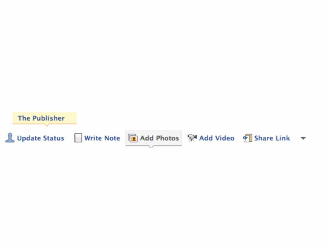 """Den nye """"publisher""""-linja som lar deg poste kjapt det du måtte ønske."""