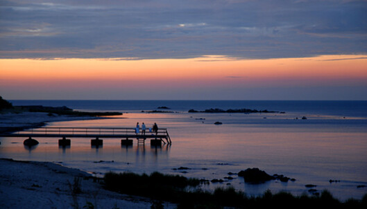 Solnedgang over Østersjøen. Foto: Christian Skauge
