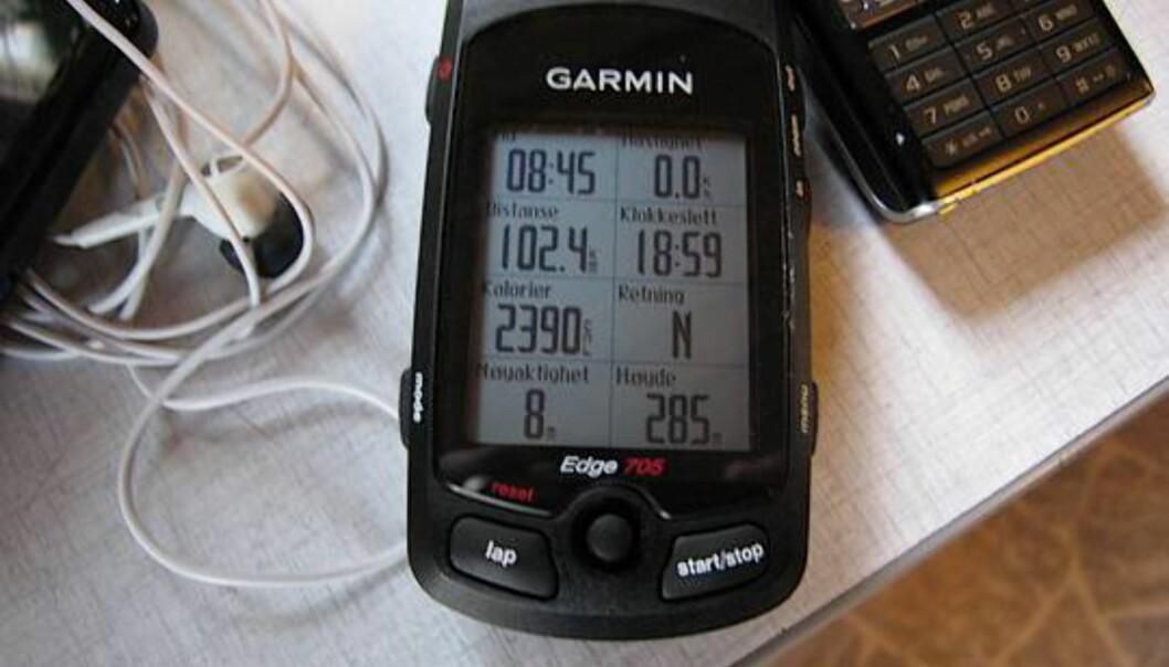 Etter en lang dag på sykkelsetet er det artig å sjekke dataene som Edge 705 har lagret underveis.