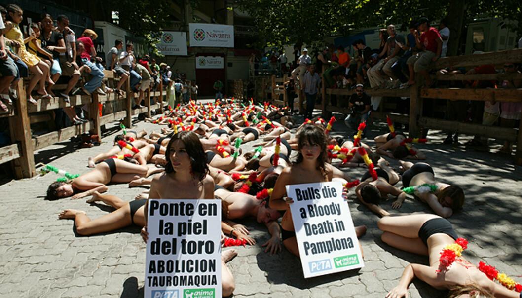 PETAs protest i Pamplona