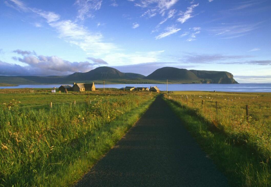 Flott utsikt mot øya Hoy fra Outertown. Foto: Visit Orkney