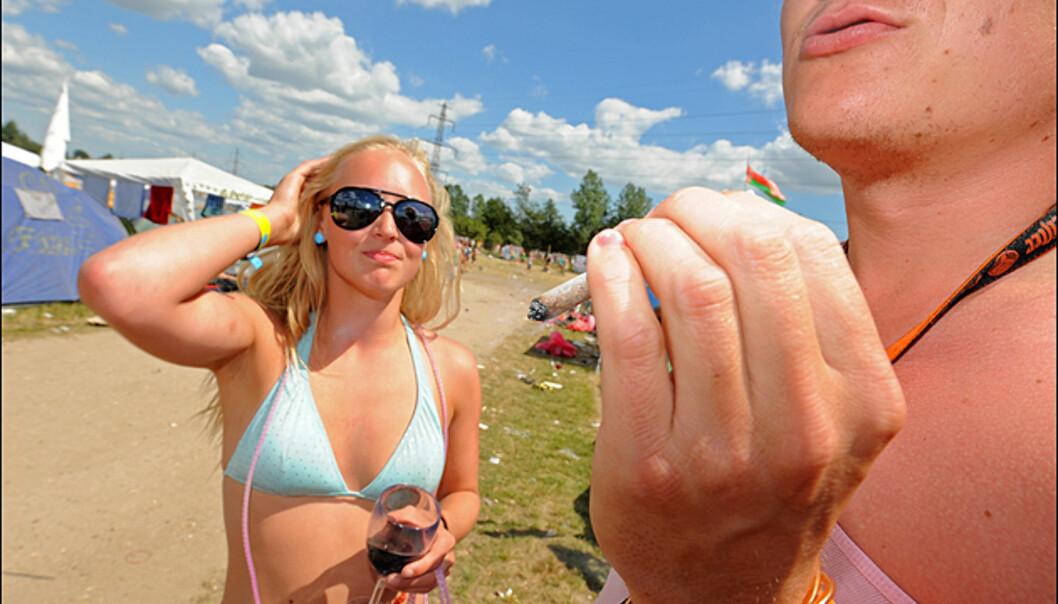 Hva gjør det vel med en joint eller to?, spør denne dansken seg. Foto: Hans Kristian Krogh-Hanssen