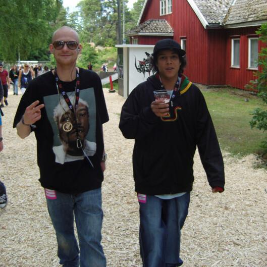 DJ Ross og Philip er blant de fornøyde festivalgjestene. Foto: Thomas Marynovski