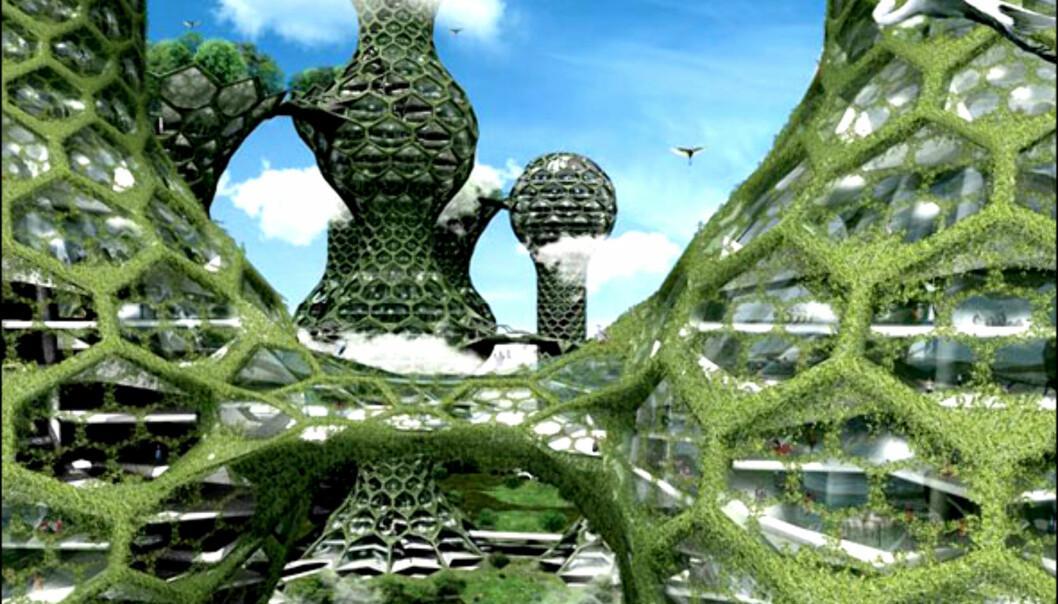 De 15 tårnene inneholder 2.590 private boligceller. <i>Illustrasjon: Mass Studies</i>