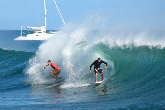 Klarer dere disse bølgene? <i>Illustrasjon: Diane Groves</i> Foto: Diane Groves