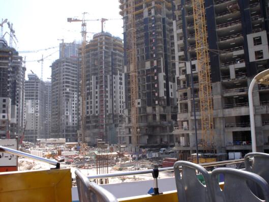 For øyeblikket bygges det i stor stil i hele Dubai by. <i>Foto: Samantha Villagran</i> Foto: Samantha Villagran