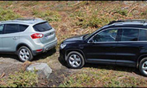 Begge bilene egner seg greit for kjøring på skogsveier