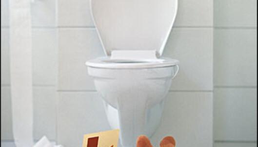 Det ser penere ut, og det er lettere å vaske gulvet - men de vegghengte toalettene kan være skjulte fuktfeller. <i>Illustrasjonsfoto: Colourbox.com</i> Foto: Colourbox.no