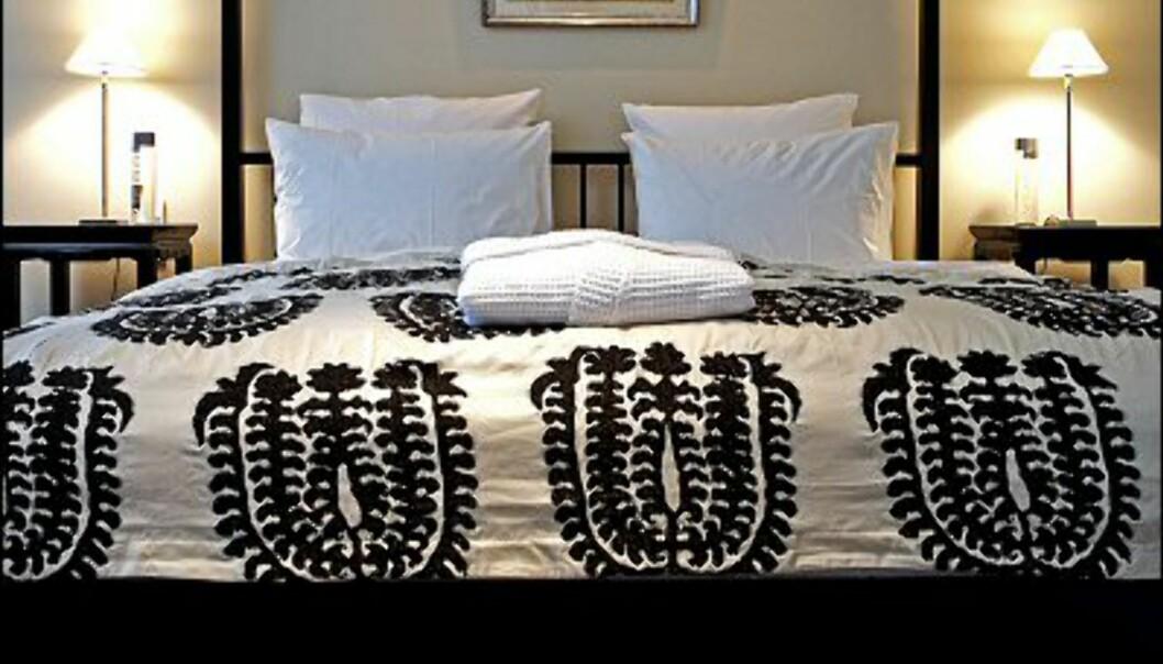 Lekkert og innbydende. Det lukter god madrass og myke puter. Foto: Nimb/Tivoli