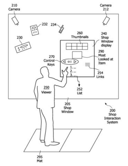 Slik ser Philips for seg at det interaktive butikkvinduet skal fungere. Foto: Philips. Foto: Foto: Philips