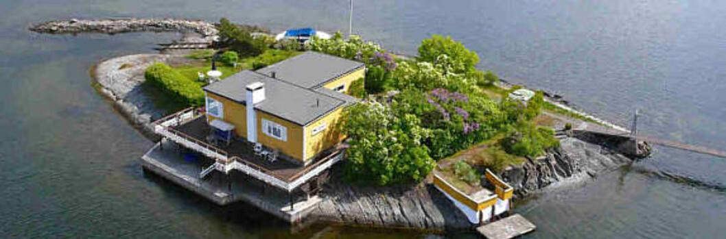 Kreyerskjær, som ligger på østsiden av Nesøya, er nå lagt ut for salg. Foto: Advokatene Sem og Johnsen Eiendomsmegling. Foto: Foto: Advokatene Sem og Johnse