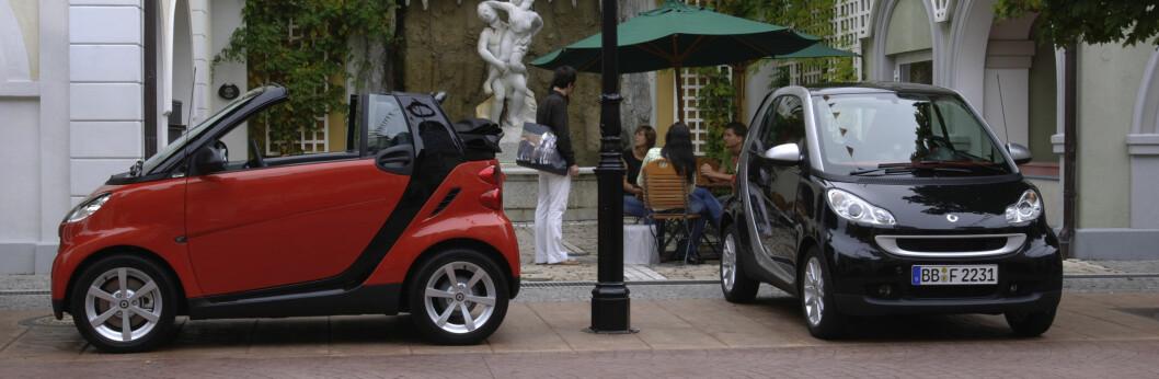 Nå velger amerikanerne seg små biler som Smart ForTwo.