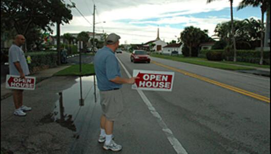 I Florida tyr folk til uortodokse salgsmetoder. Men i løpet av et par år vil trenden snu, tror meglerne.<br /> <br /> <i>Foto: Hans Kristian Krogh-Hansen</i>