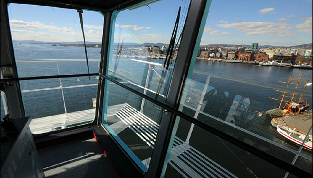 Utsikten over Oslo fra broen.