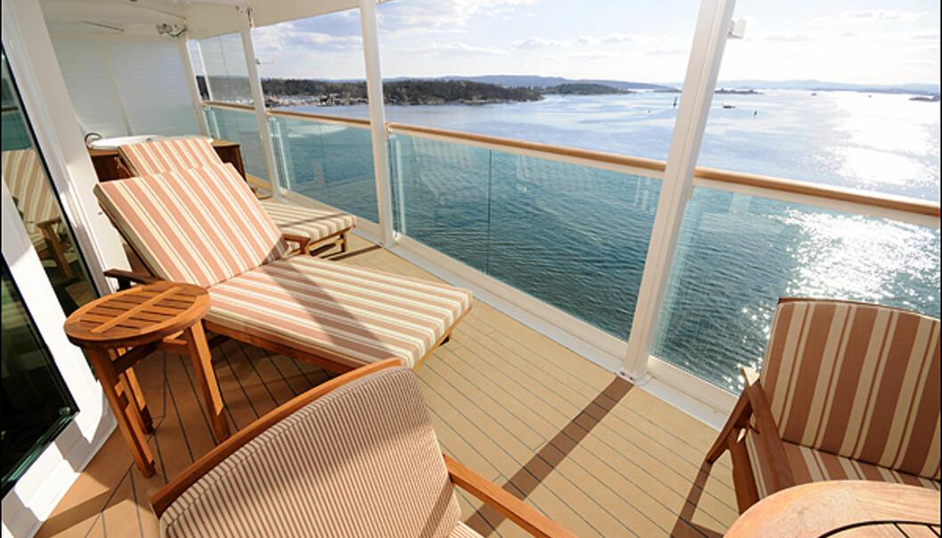 Balkongen på Royal suiten.