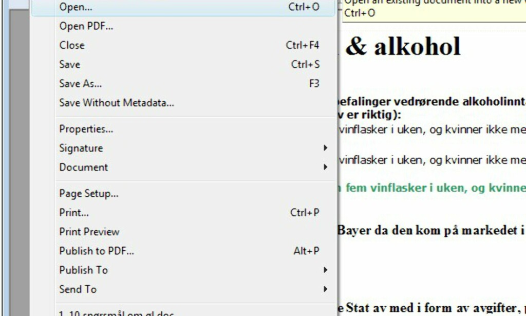 Bilder fra WordPerfect Office X4