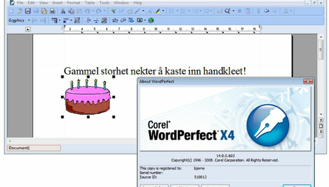 <center>Klikk på bildet for å se flere skjermbilder fra WordPerfect Office X4</center>
