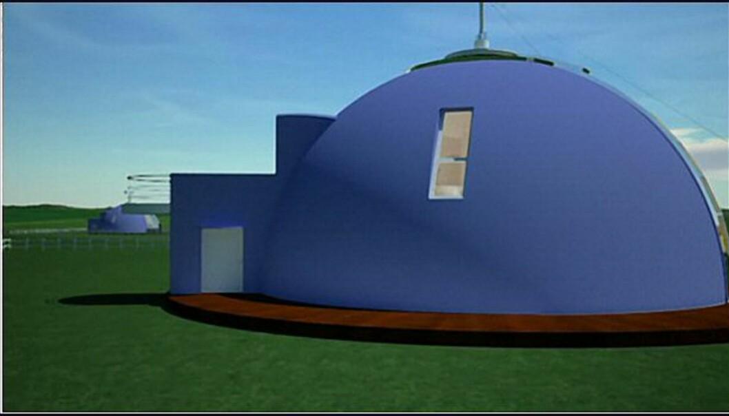 Se huset som er rundt - og kan dreie