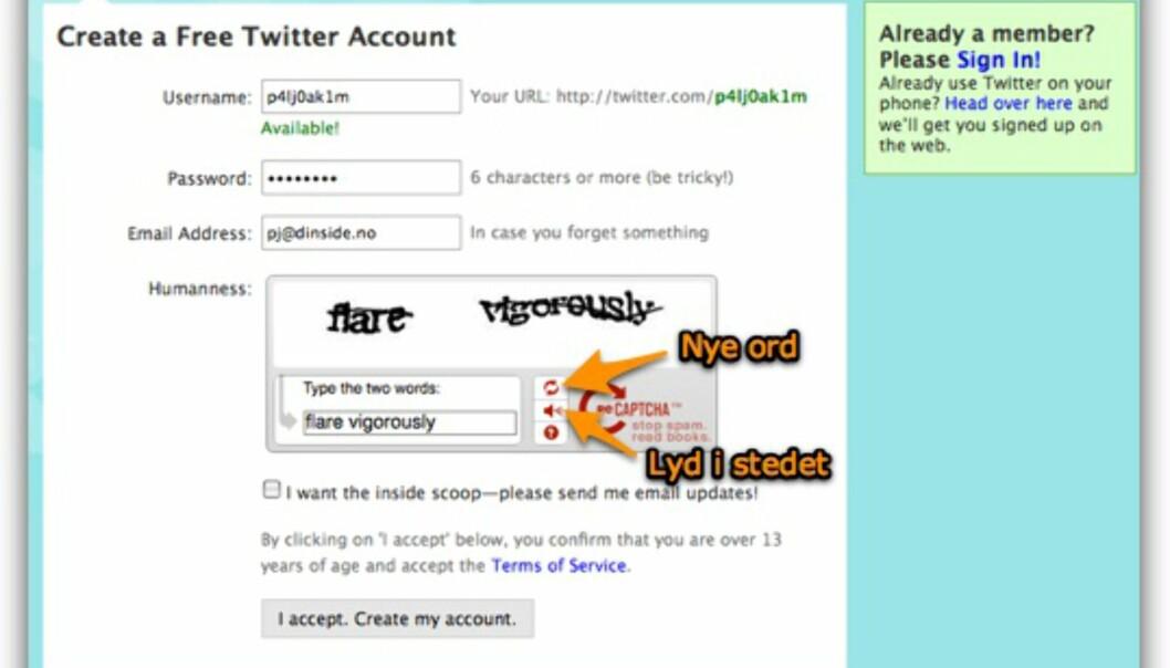 Twitter: slik begynner du