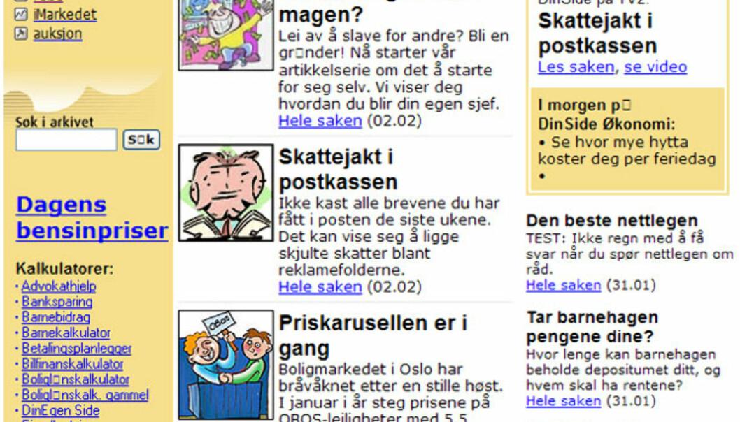 DinSide Økonomi, 2001.