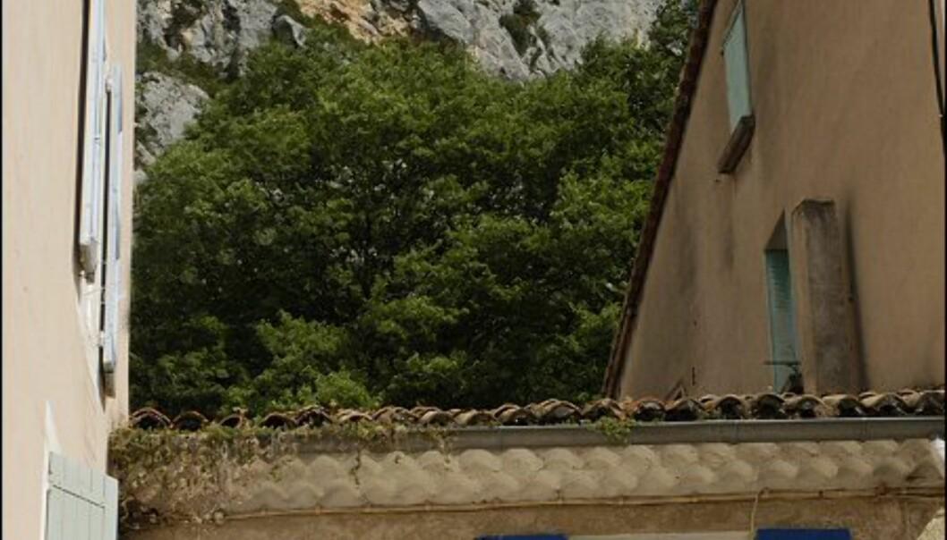 Moustiers Sainte Marie klamrer seg til fjellsiden. Foto: www.photito.com