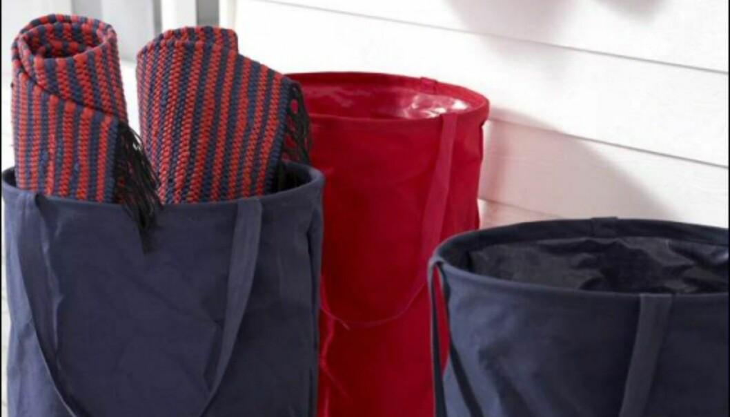 Store og små oppbevaringskurver som er vannavstøtende fra Ellos. 2pk store: 149 kroner, 3pk små: 99 kroner. <i>Foto: Ellos</i> Foto: Ellos