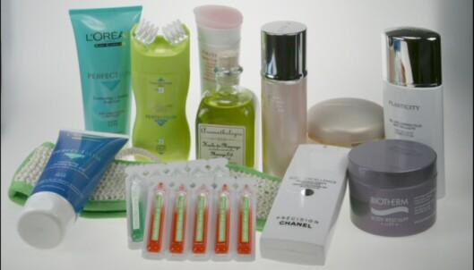 Her er produktene vi testet. <i>Alle produktfoto: Elisabeth Dalseg</i> Foto: Elisabeth Dalseg