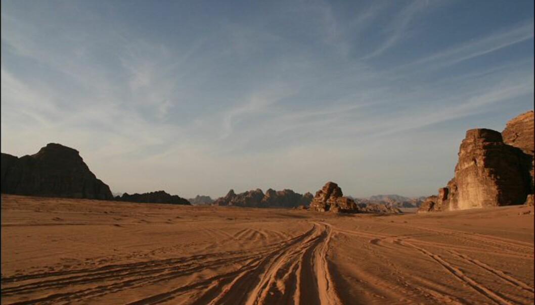 De merkelige fjellene er av sandstein og granitt.