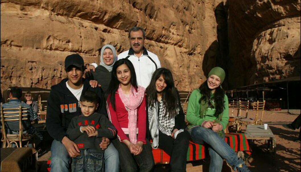 Amman-familien al Mousa er på ferie i ørkenen. I likhet med andre jordanere er de usedvanlig trivelige og hjelpsomme.