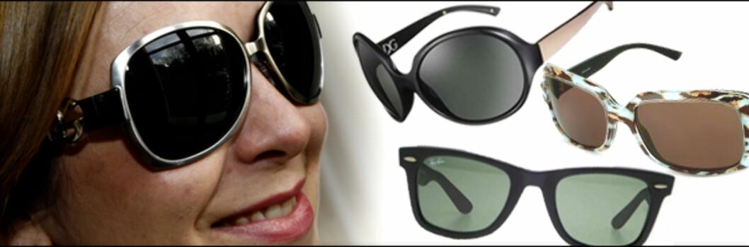 Begrenset budsjett? Designerbrillene er billigere på nett. <i>Foto/montasje: Per Ervland, produsentene/Kim Jansson.</i> Foto: Per Ervland/produsentene