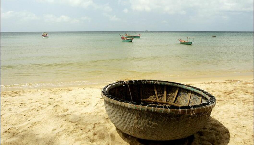 Dette er faktisk en båt! Foto: Vibeke Montero