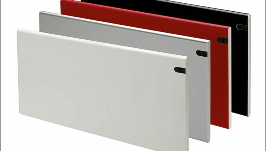Adax Neo er en annerledes panelovn, enkel og tidløs med variasjonsmuligheter i fargevalg. Dag og nattsenkning som standard. Designet av Hareide Designmill AS, Merket for god design 2008.  Foto: Adax